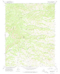 Adams Head Utah Historical topographic map, 1:24000 scale, 7.5 X 7.5 Minute, Year 1971