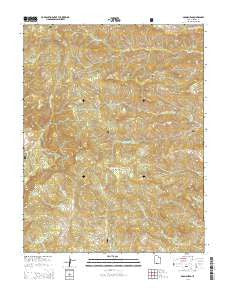 Adams Head Utah Current topographic map, 1:24000 scale, 7.5 X 7.5 Minute, Year 2014