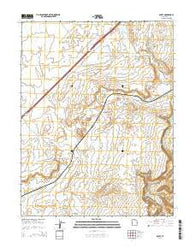 Agate Utah Current topographic map, 1:24000 scale, 7.5 X 7.5 Minute, Year 2014