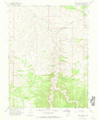 Agency Draw NE Utah Historical topographic map, 1:24000 scale, 7.5 X 7.5 Minute, Year 1966
