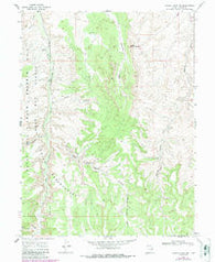 Agency Draw NW Utah Historical topographic map, 1:24000 scale, 7.5 X 7.5 Minute, Year 1966