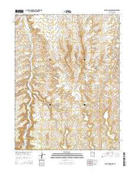 Agency Draw NW Utah Current topographic map, 1:24000 scale, 7.5 X 7.5 Minute, Year 2014