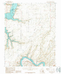 Alcove Canyon Utah Historical topographic map, 1:24000 scale, 7.5 X 7.5 Minute, Year 1987