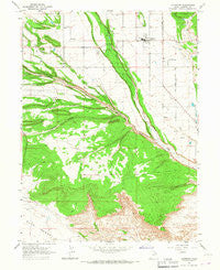 Altamont Utah Historical topographic map, 1:24000 scale, 7.5 X 7.5 Minute, Year 1965