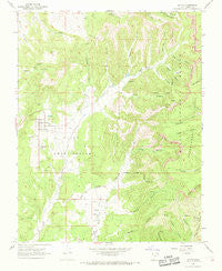 Alton Utah Historical topographic map, 1:24000 scale, 7.5 X 7.5 Minute, Year 1966