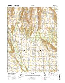 Altonah Utah Current topographic map, 1:24000 scale, 7.5 X 7.5 Minute, Year 2014