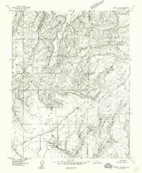 Aneth 1 NE Utah Historical topographic map, 1:24000 scale, 7.5 X 7.5 Minute, Year 1957
