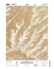 Anthro Mountain Utah Current topographic map, 1:24000 scale, 7.5 X 7.5 Minute, Year 2014 from Utah Maps Store