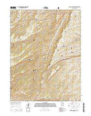 Anthro Mountain NE Utah Current topographic map, 1:24000 scale, 7.5 X 7.5 Minute, Year 2014 from Utah Maps Store