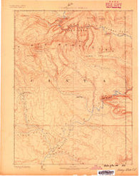 Ashley Utah Historical topographic map, 1:250000 scale, 1 X 1 Degree, Year 1885