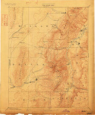 Beaver Utah Historical topographic map, 1:250000 scale, 1 X 1 Degree, Year 1885