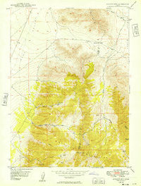 Boulter Mts Utah Historical topographic map, 1:24000 scale, 7.5 X 7.5 Minute, Year 1949