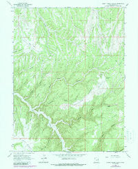 Burnt Timber Canyon Utah Historical topographic map, 1:24000 scale, 7.5 X 7.5 Minute, Year 1966