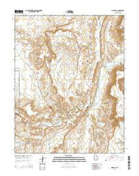 Caineville Utah Current topographic map, 1:24000 scale, 7.5 X 7.5 Minute, Year 2014