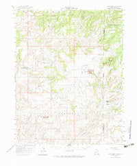 Cajon Mesa Utah Historical topographic map, 1:62500 scale, 15 X 15 Minute, Year 1958