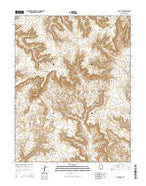 Cave Flat Utah Current topographic map, 1:24000 scale, 7.5 X 7.5 Minute, Year 2014 from Utah Map Store