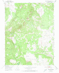 Cedar Mountain Utah Historical topographic map, 1:24000 scale, 7.5 X 7.5 Minute, Year 1950