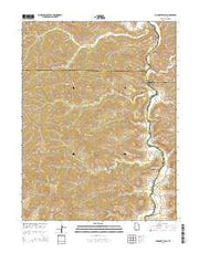 Chandler Falls Utah Current topographic map, 1:24000 scale, 7.5 X 7.5 Minute, Year 2014 from Utah Maps Store