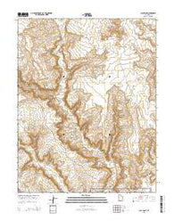 Clay Point Utah Current topographic map, 1:24000 scale, 7.5 X 7.5 Minute, Year 2014