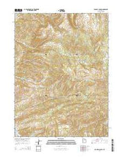Crandall Canyon Utah Current topographic map, 1:24000 scale, 7.5 X 7.5 Minute, Year 2014 from Utah Maps Store