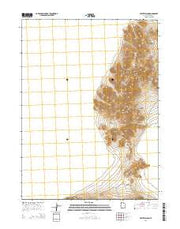 Crater Island Utah Current topographic map, 1:24000 scale, 7.5 X 7.5 Minute, Year 2014 from Utah Maps Store