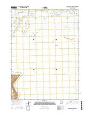Crocodile Mountain NE Utah Current topographic map, 1:24000 scale, 7.5 X 7.5 Minute, Year 2014 from Utah Maps Store