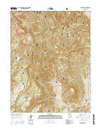 Delano Peak Utah Current topographic map, 1:24000 scale, 7.5 X 7.5 Minute, Year 2014 from Utah Map Store