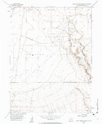 Dugway Proving Ground SE Utah Historical topographic map, 1:24000 scale, 7.5 X 7.5 Minute, Year 1954