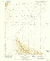 Dugway Proving Ground SW Utah Historical topographic map, 1:24000 scale, 7.5 X 7.5 Minute, Year 1954