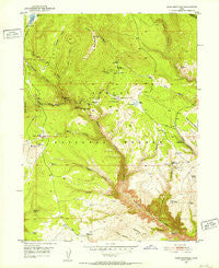 Dyer Mountain Utah Historical topographic map, 1:24000 scale, 7.5 X 7.5 Minute, Year 1950