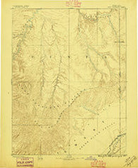 East Tavaputs Colorado Historical topographic map, 1:250000 scale, 1 X 1 Degree, Year 1885