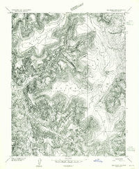 Elk Ridge 2 SE Utah Historical topographic map, 1:24000 scale, 7.5 X 7.5 Minute, Year 1954