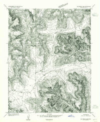 Elk Ridge 3 NE Utah Historical topographic map, 1:24000 scale, 7.5 X 7.5 Minute, Year 1954