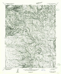 Elk Ridge 4 NW Utah Historical topographic map, 1:24000 scale, 7.5 X 7.5 Minute, Year 1954