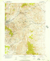 Eureka Utah Historical topographic map, 1:24000 scale, 7.5 X 7.5 Minute, Year 1954