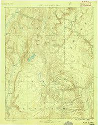 Fish Lake Utah Historical topographic map, 1:250000 scale, 1 X 1 Degree, Year 1885