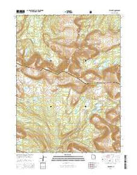 Fox Lake Utah Current topographic map, 1:24000 scale, 7.5 X 7.5 Minute, Year 2014
