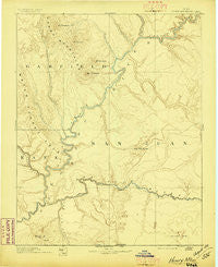 Henry Mountains Utah Historical topographic map, 1:250000 scale, 1 X 1 Degree, Year 1892
