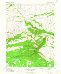 Jessen Butte Utah Historical topographic map, 1:24000 scale, 7.5 X 7.5 Minute, Year 1963