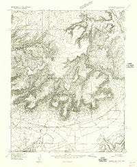 Johnson SW Utah Historical topographic map, 1:24000 scale, 7.5 X 7.5 Minute, Year 1954