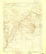 La Sal Utah Historical topographic map, 1:250000 scale, 1 X 1 Degree, Year 1885