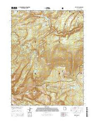 Leidy Peak Utah Current topographic map, 1:24000 scale, 7.5 X 7.5 Minute, Year 2014