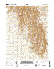 Little Drum Pass Utah Current topographic map, 1:24000 scale, 7.5 X 7.5 Minute, Year 2014 from Utah Maps Store