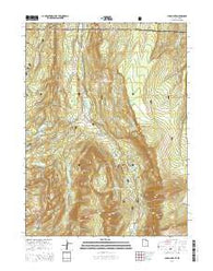 Lyman Lake Utah Current topographic map, 1:24000 scale, 7.5 X 7.5 Minute, Year 2014