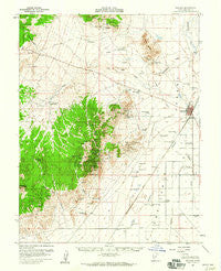 Milford Utah Historical topographic map, 1:62500 scale, 15 X 15 Minute, Year 1958