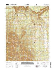 Mount Waas Utah Current topographic map, 1:24000 scale, 7.5 X 7.5 Minute, Year 2014 from Utah Maps Store