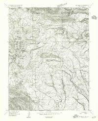 Mt Peale 1 NW Utah Historical topographic map, 1:24000 scale, 7.5 X 7.5 Minute, Year 1954