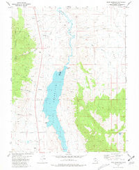 Piute Reservoir Utah Historical topographic map, 1:24000 scale, 7.5 X 7.5 Minute, Year 1981