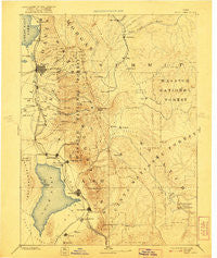 Salt Lake Utah Historical topographic map, 1:250000 scale, 1 X 1 Degree, Year 1885
