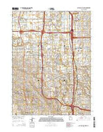 Salt Lake City South Utah Current topographic map, 1:24000 scale, 7.5 X 7.5 Minute, Year 2014 from Utah Map Store